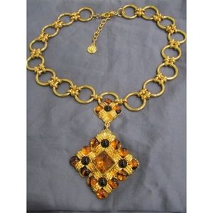 Graziano Gold Large Maltese Pendant Necklace